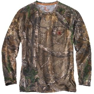 Men's Force Cotton Delmont Camo Long Sleeve T Shirt