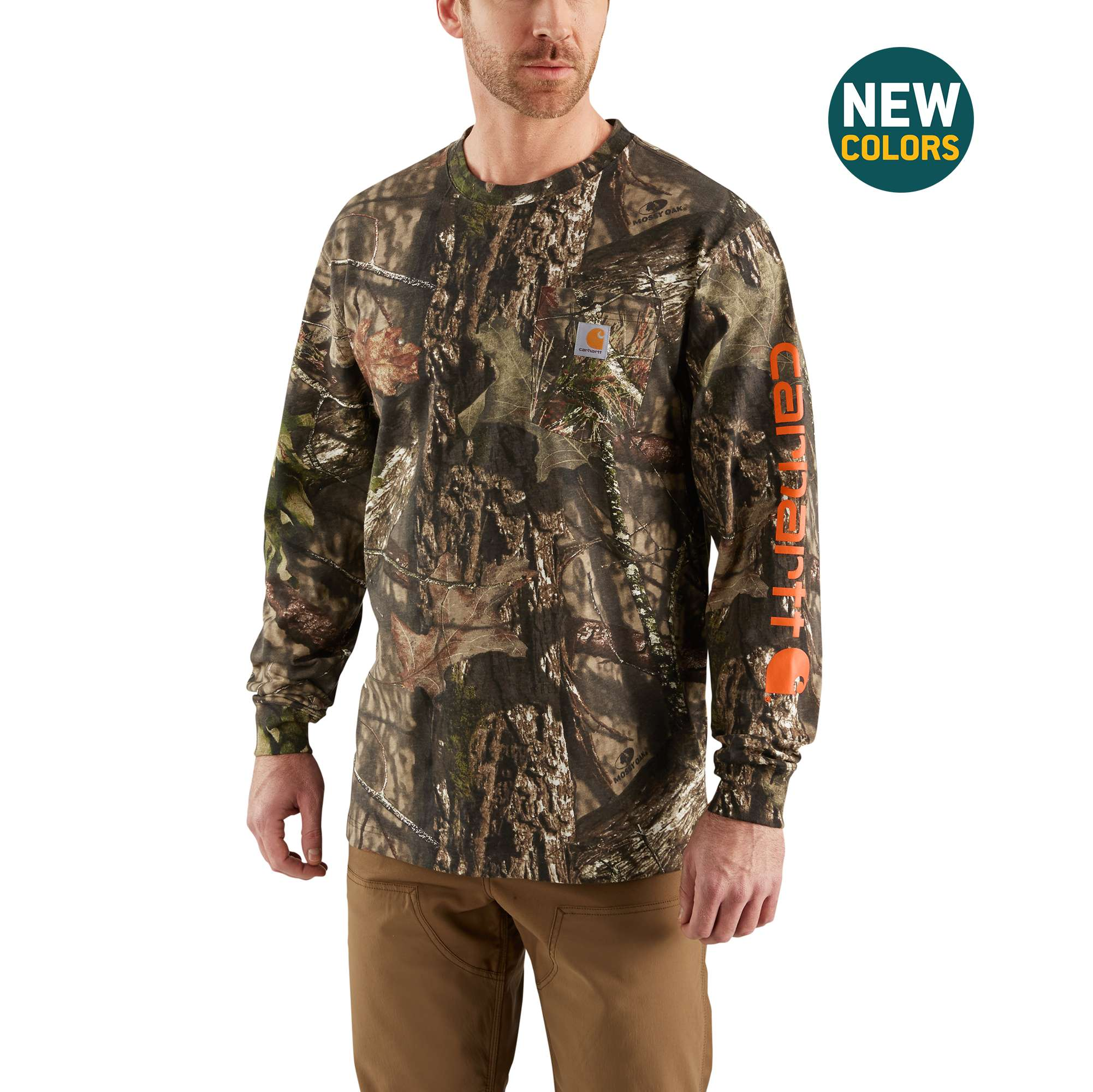 006d043aaa1ce Buy Mens Workwear Gphc Camo Sleeve Long Sleeve T-Shirt - Carhartt ...