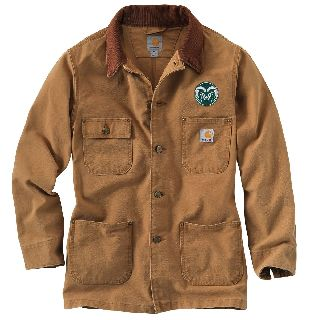 Mens Colorado State Weathered Chore Coat