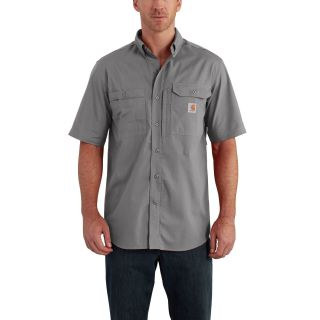 Mens Force Ridgefield Solid Short Sleeve Shirt-Carhartt