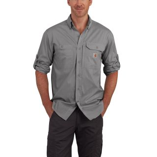Mens Force Ridgefield Solid Long Sleeve Shirt-Carhartt