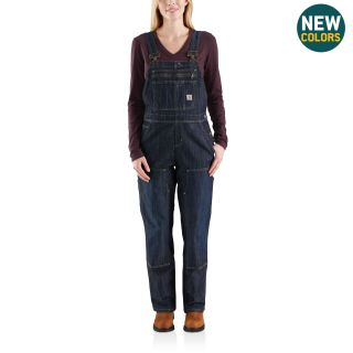 Womens Brewster Double Front Bib Overalls-