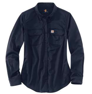 Womens Flame-Resistant Womens Rugged Flex Twill Shirt-Carhartt