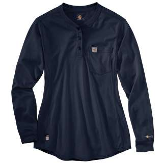 Womens Flame-Resistant Womens Force Cotton Long Sleeve Henley-