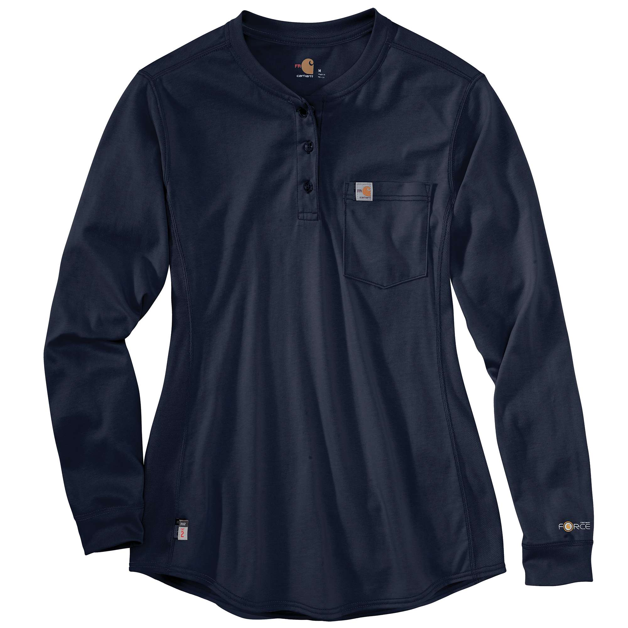 Womens Flame-Resistant Womens Force Cotton Long Sleeve Henley-Carhartt