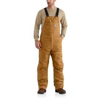 Mens Flame-Resistant Quick Duck Lined Bib Overall-