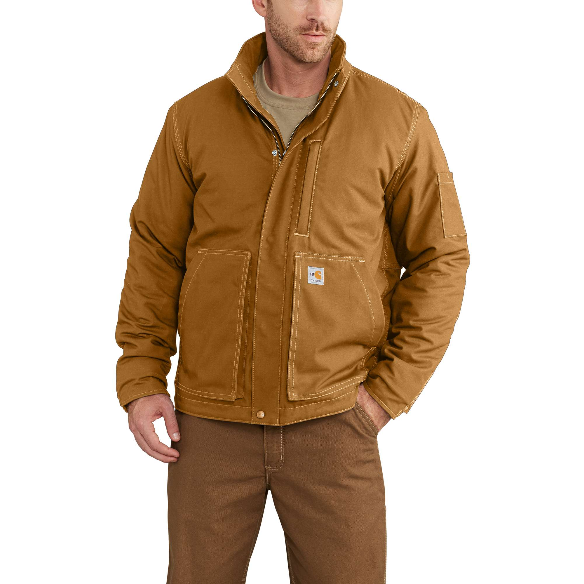 490cf613a0 Mens Flame-Resistant Full Swing Quick Duck Lanyard Jacket-Carhartt