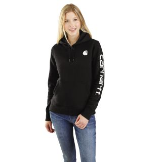 Womens Clarksburg Sleeve Logo Hooded Sweat shirt