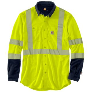 Mens Flame-Resistant High Vis Force Hybrid Shirt-Carhartt