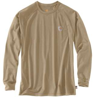 Mens Flame-Resistant Force Long Sleeve T Shirt-Carhartt