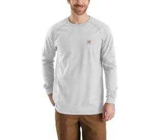 Mens Flame-Resistant Force Long Sleeve T Shirt-Carhartt