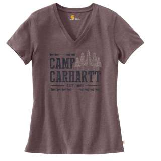 Womens Lockhart Grphc Camp Short Sleeve Vneck Tshirt-
