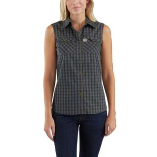 Womens Force Ridgefield Sleevless Plaid Shirt-