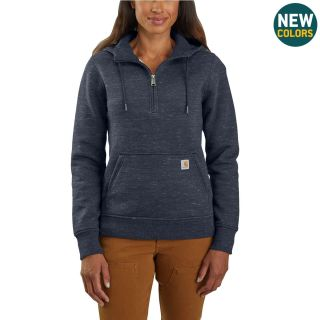 Womens Clarksburg Half Zip Hooded Sweatshirt