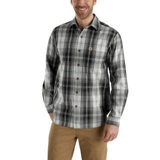 Mens Essential Plaid Button Down Long Sleeve Shirt
