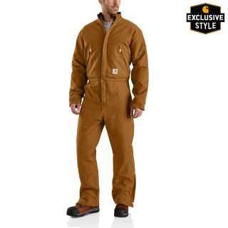 Mens X01 Quilt Lined Duck Coveralls 2