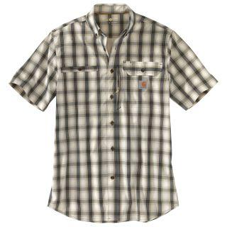 Mens Force Ridgefield Plaid Short Sleeve Shirt-