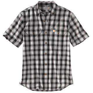 Mens Fort Plaid Short Sleeve Shirt-