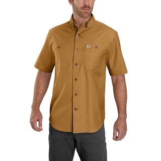 Mens Rugged Flex Rigby Short Sleeve Work Shirt-