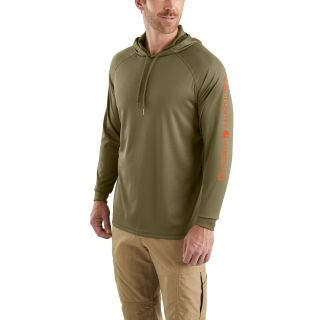 Mens Force Fishing Graphic Hooded TShirt-Carhartt