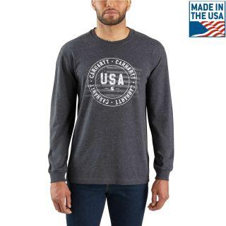 Mens Lubbock Carhartt USA Graphic Long Sleeve TS-Carhartt