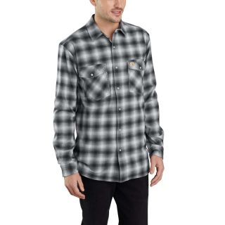 Mens Rugged Flex Hamilton Snap Front Plaid