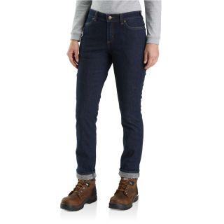 Womens Straight Leg Lined Jean