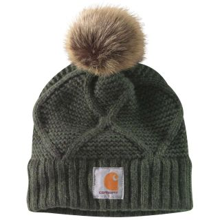 Womens Cable Knit Pom Hat