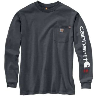 Mens Flame-Resistant Force Org Ft Long Sleeve Grphc Tshirt-Carhartt