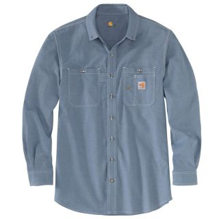 Mens Flame-Resistant Force Org Fit Long Sleeve Shirt-Carhartt