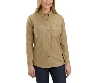 Womens Flame-Resistant Force Rlxd Fit Long Sleeve Shirt-Carhartt