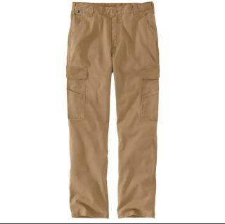 Mens Flame-Resistant RF Rlxd Ft Canvas Cargo Wrk Pnt-Carhartt