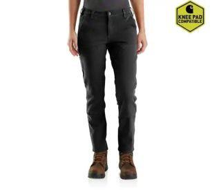 Womens Straight Fit Stretch Twill Pant-Carhartt