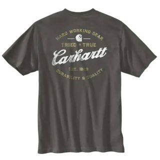 Mens RlxdFitHeavyweight Short Sleeve Pocket Trd Tru T-Shirt-Carhartt