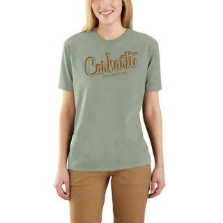 Womens LseFitHeavyweight Short Sleeve Crhrtt Scrpt T-Shirt-Carhartt