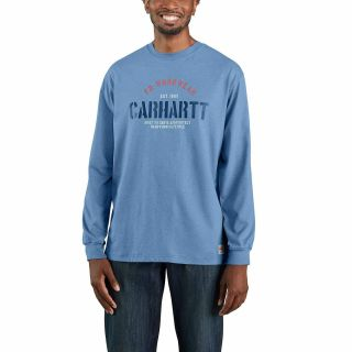 Mens Flame-Resistant Force Org Fit Long Sleeve Tshrt-Carhartt