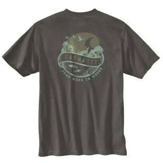 Mens LseFitHeavyweight Short Sleeve Pocket Woods T-Shirt-