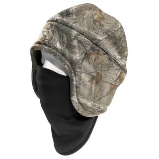 Mens Camo Fleece 2 in 1 Headwear