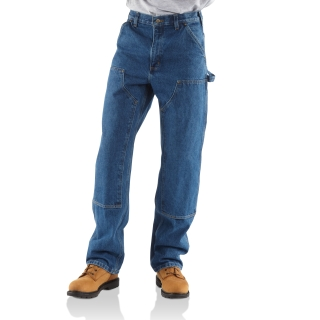 Mens Loose Org Fit Double Front Washed Logger