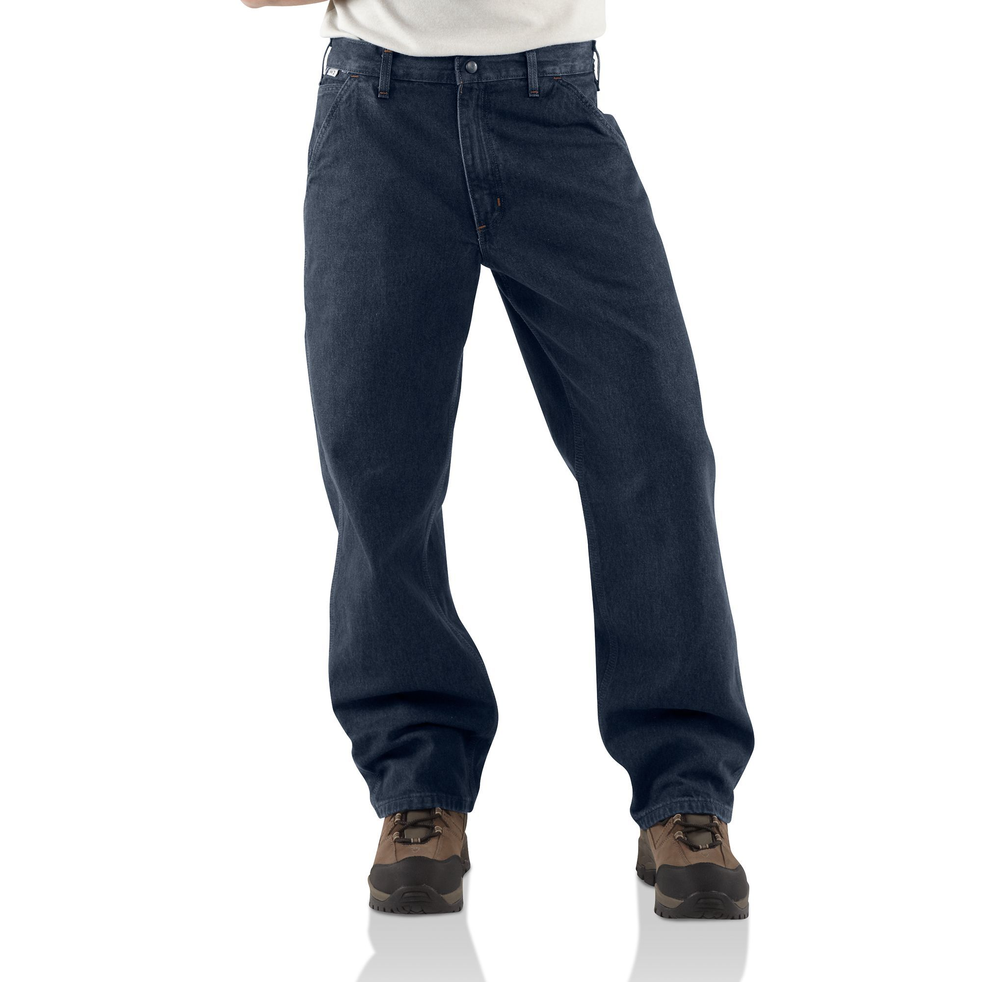 Carhartt - Mens Flame-Resistant Signature Denim Dungaree-Carhartt