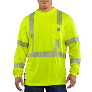 Mens Flame-Resistant High Vis Long Sleeve T Shirt