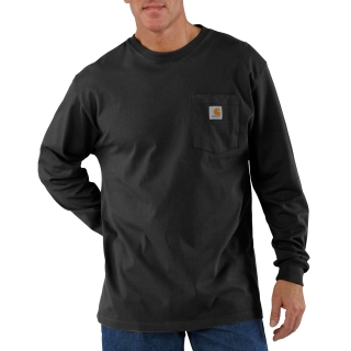 Mens LseFitHeavyweight Long Sleeve Pocket T-Shirt-