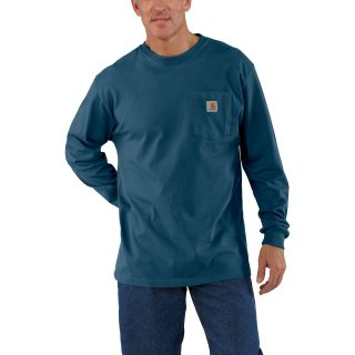 Mens Workwear Pocket Long Sleeve T Shirt-