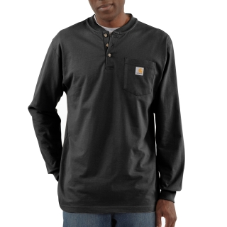 Mens Workwear Pocket Long Sleeve Henley-Carhartt