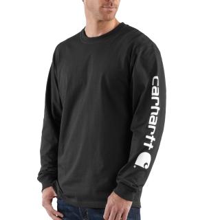 Mens Signature Sleeve Logo Long Sleeve T Shirt-