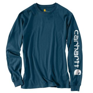 Mens Signature Sleeve Logo Long Sleeve T Shirt-