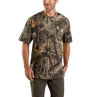 Mens Camo Short Sleeve T Shirt-Carhartt