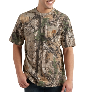 Mens Camo Short Sleeve T Shirt