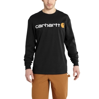 Mens Signature Logo Long Sleeve T Shirt-Carhartt