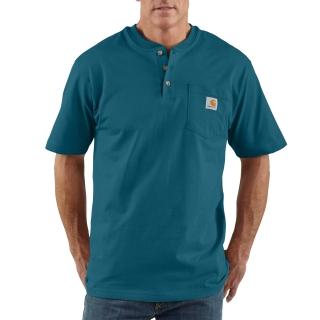 Mens Workwear Pocket Short Sleeve Henley-